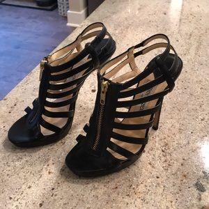 Jimmy choo black cage heels